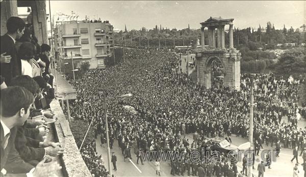 Κηδεία Γεωργίου Παπανδρέου, 3 Νοεμ. 1968 (Αρχείο ΕΛΙΑ-ΜΙΕΤ)